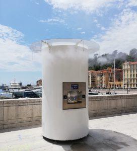 Notre fontaine à eau implantée au Port de Nice.
