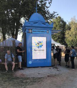 Une fontaine à eau installée à l'occasion des Eurockéennes de Belfort en 2019 par Fontaineo