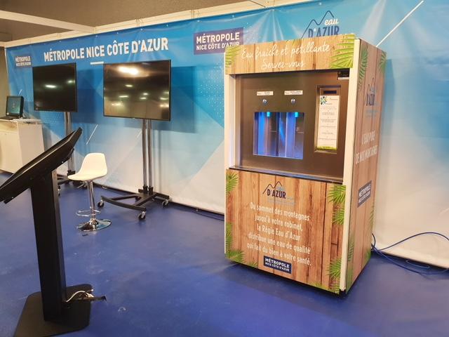 Fontaine à eau installée lors du FNCCR 2019 à Nice