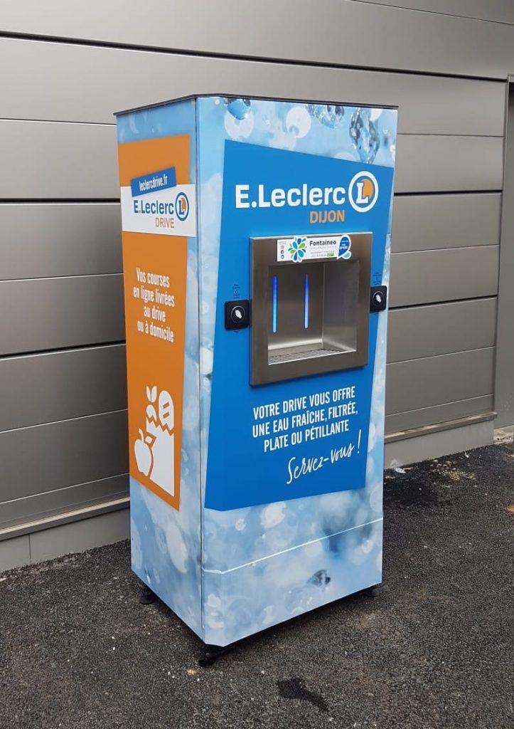 Fontaine à eau Sourceo +installée au E.Leclerc Drive à Dijon