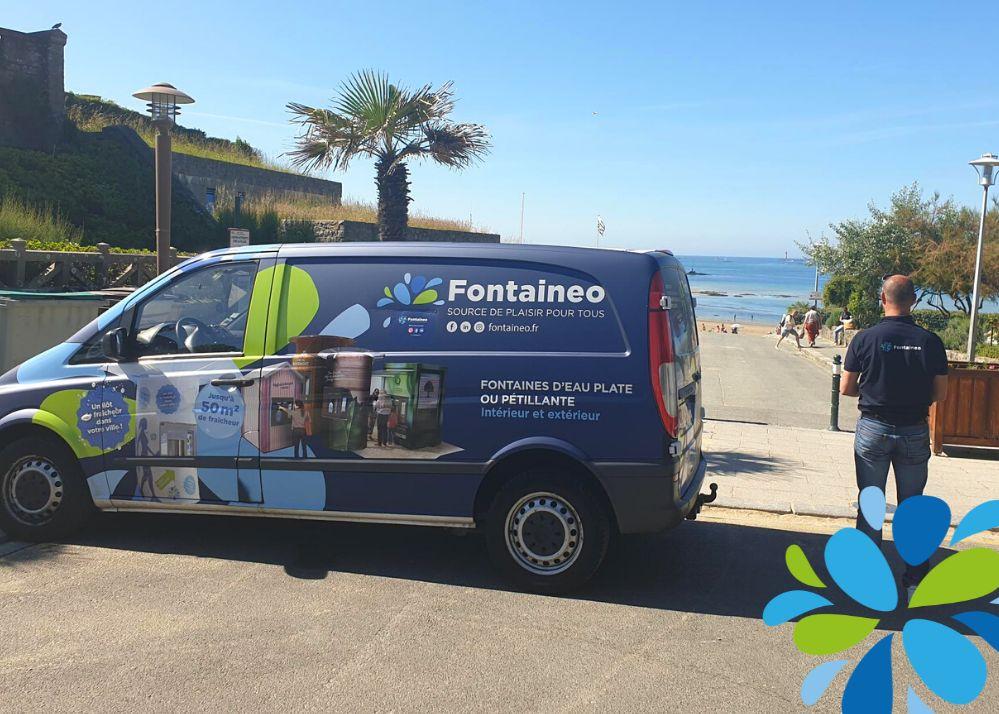 Camion techniciens Fontaineo à Dinard