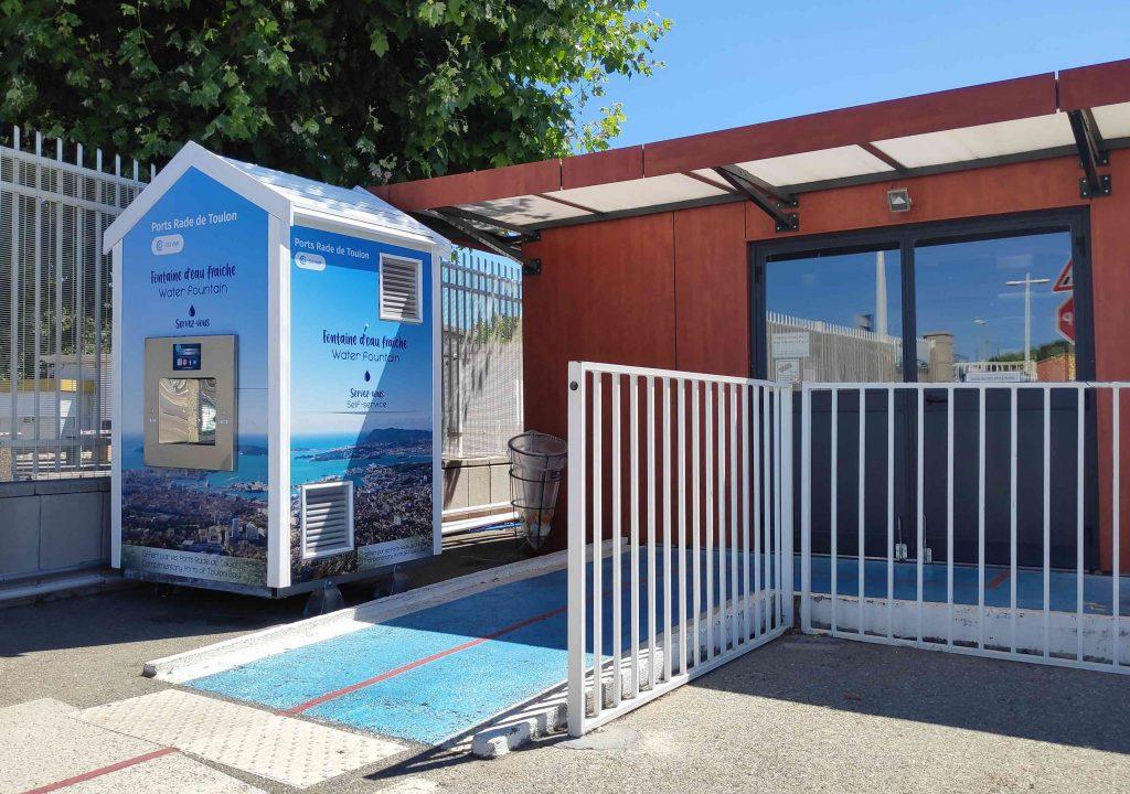 Une fontaine personnalisée Fontaineo, à Toulon